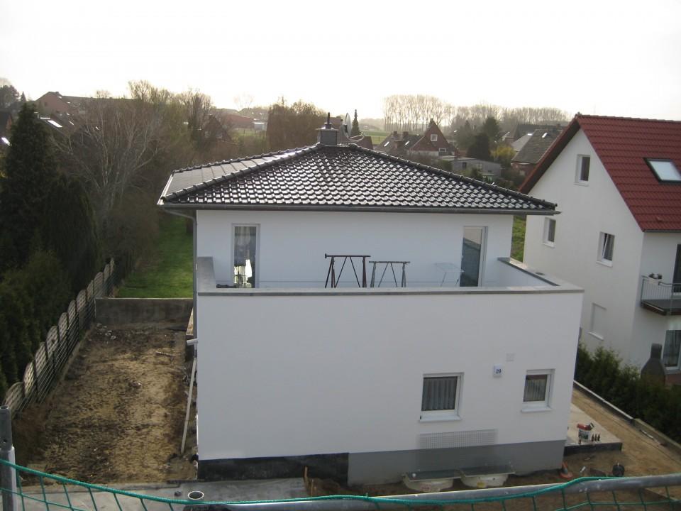 Walmdach Neubau